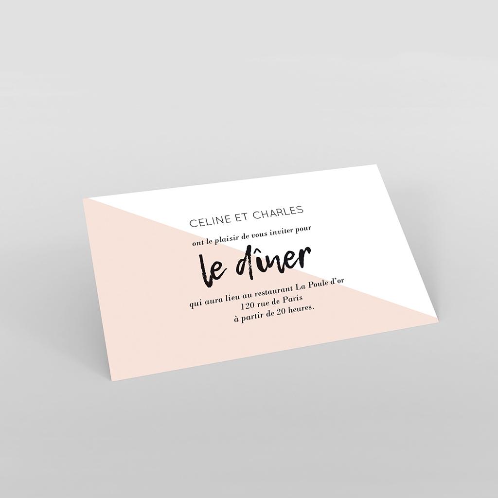 Carte d'invitation mariage Love Ink