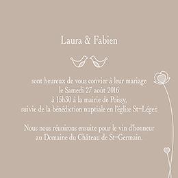 Faire-part de mariage Idylle beige