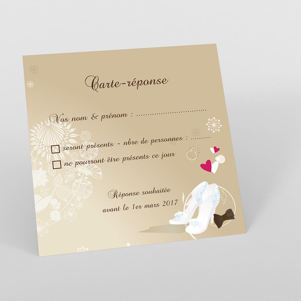 Carton réponse mariage Youpi 1 garçon