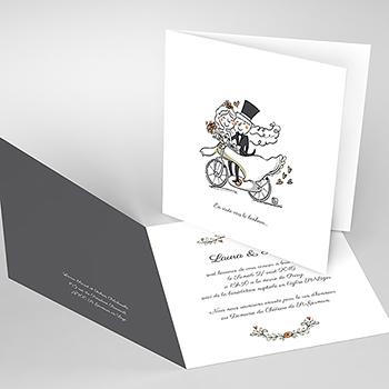 Faire-part de mariage Vélo à deux