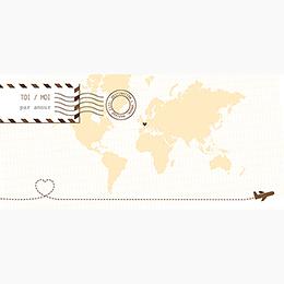 Faire-part de mariage Voyage chocolat pas cher