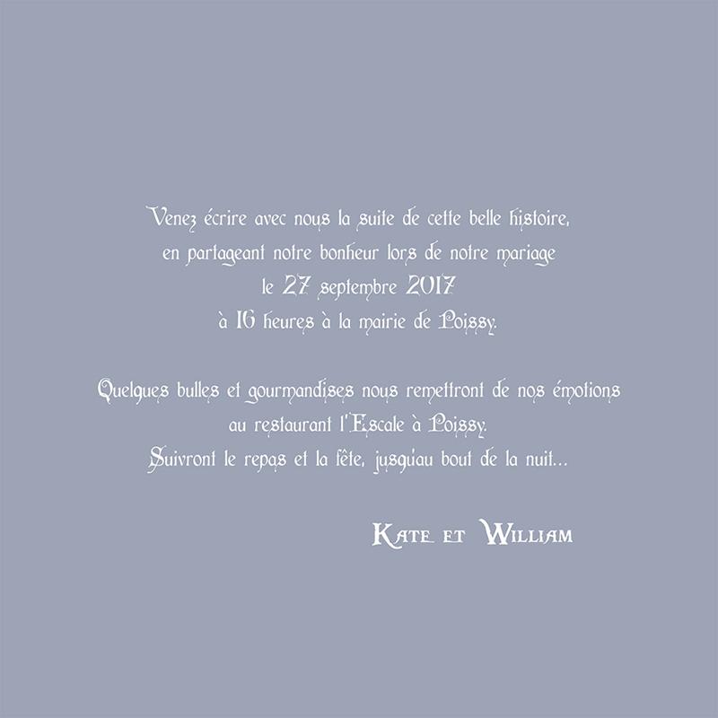 Faire-part de mariage William et Kate