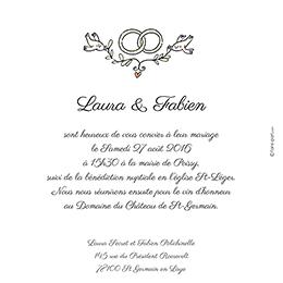 Faire-part de mariage Couronne de fleurs gratuit