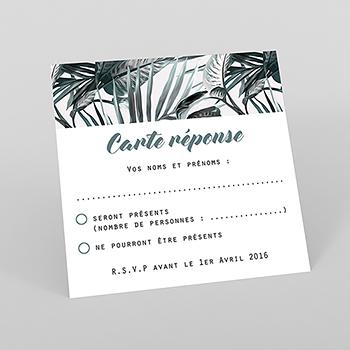 Carton réponse mariage Exotic Chic
