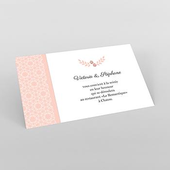 Carte d'invitation mariage Elégance poudrée