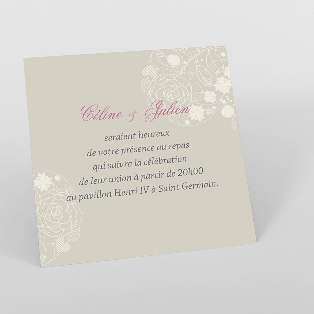 Carte d'invitation mariage Mariage ivoire coeur