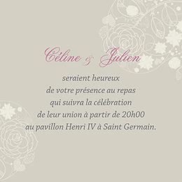 Carte d'invitation mariage Mariage ivoire coeur pas cher