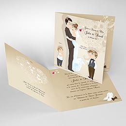 Faire-part de mariage Youpi 2 garçons