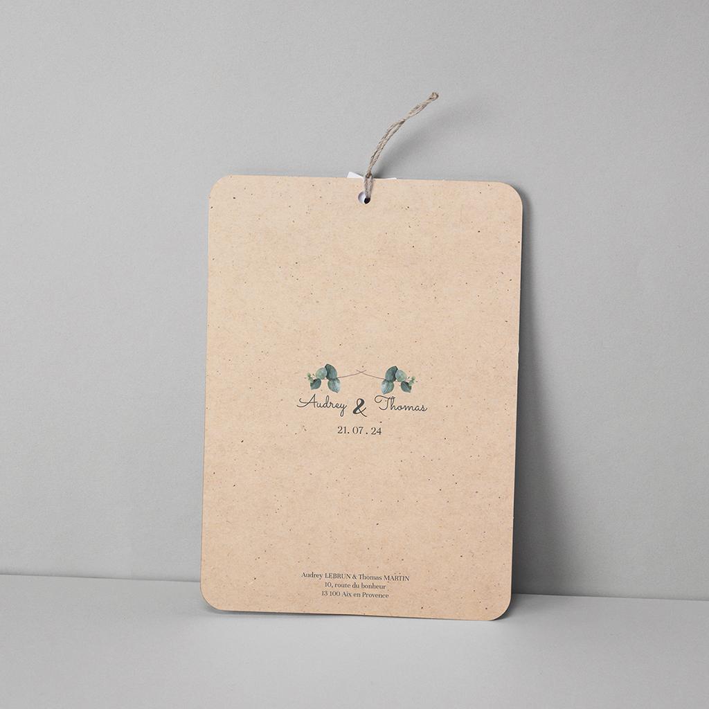 Faire-part de mariage Liège d'Eucalyptus pas cher