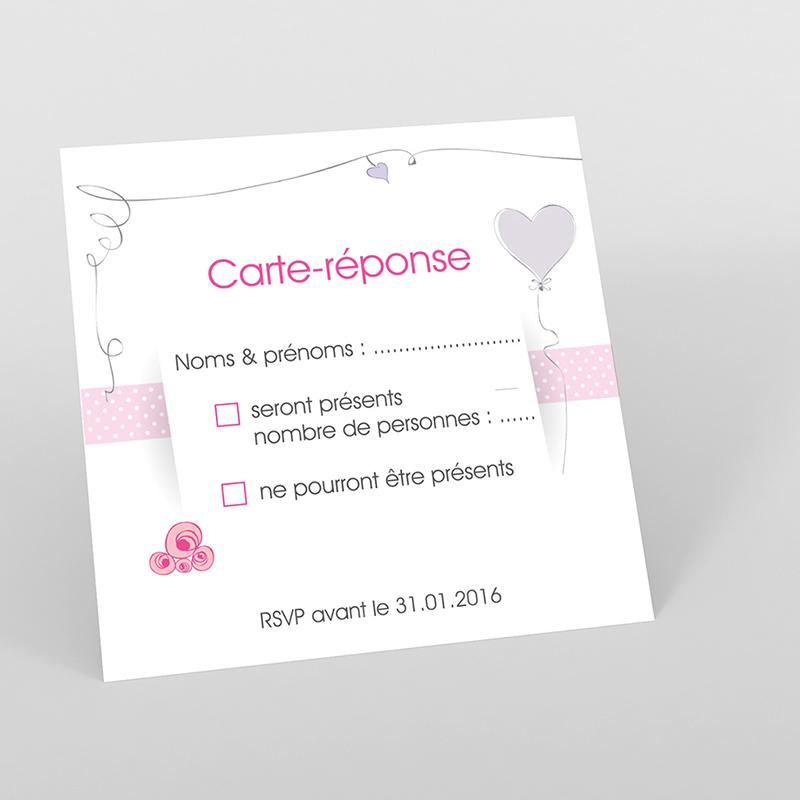 Carton réponse mariage Jour de fête