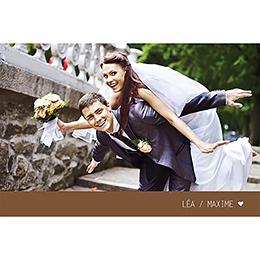 Carte de remerciement mariage Voyage chocolat pas cher