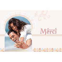 Carte de remerciement mariage Oriental  pas cher