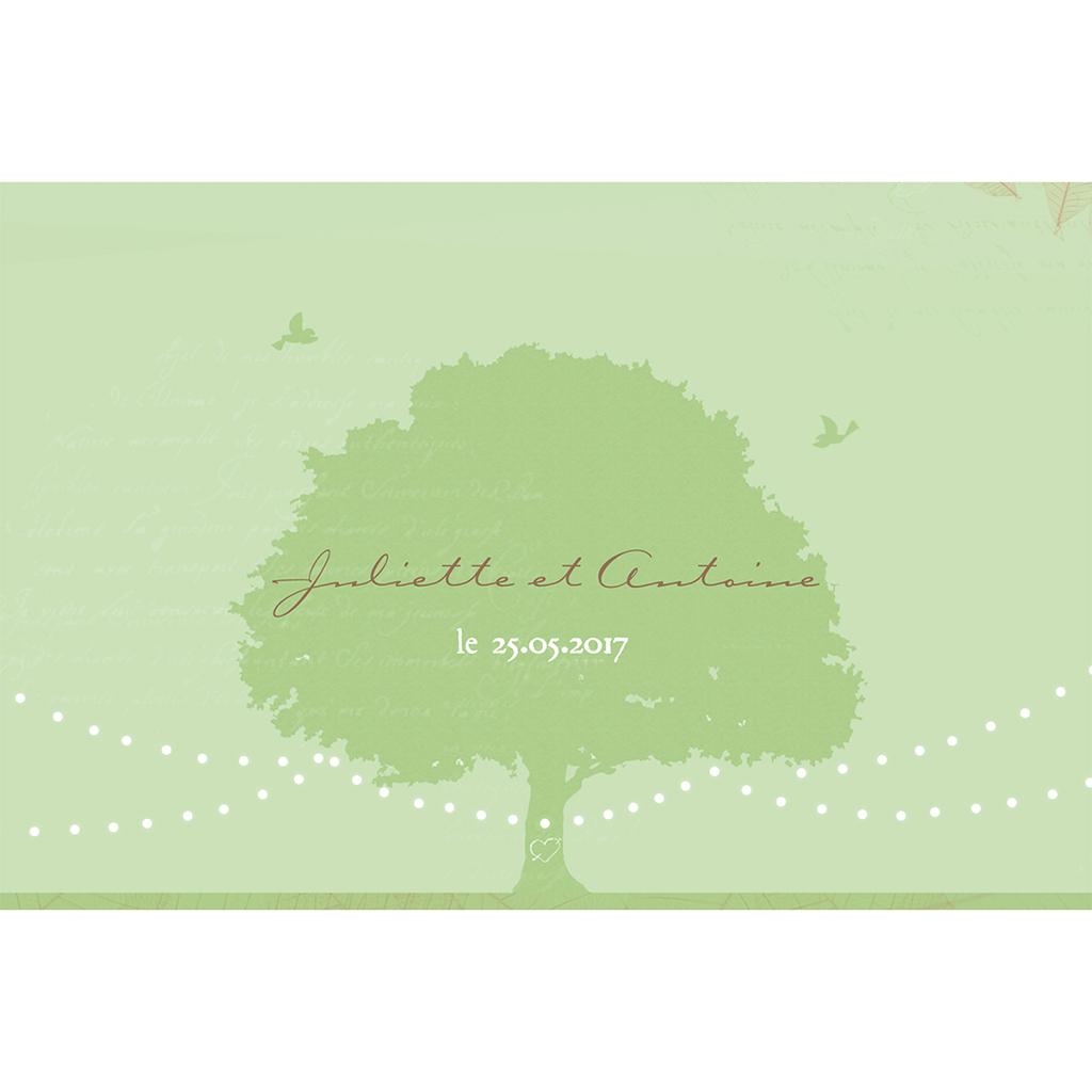 Carte de remerciement mariage Nature  pas cher