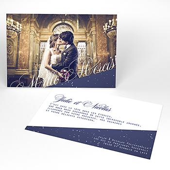 Carte de remerciement mariage Nuit étoilée