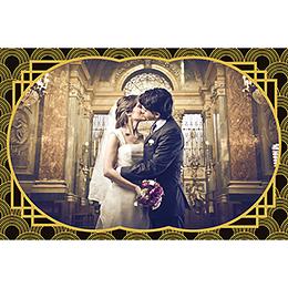 Carte de remerciement mariage Mariage années folles noir gratuit