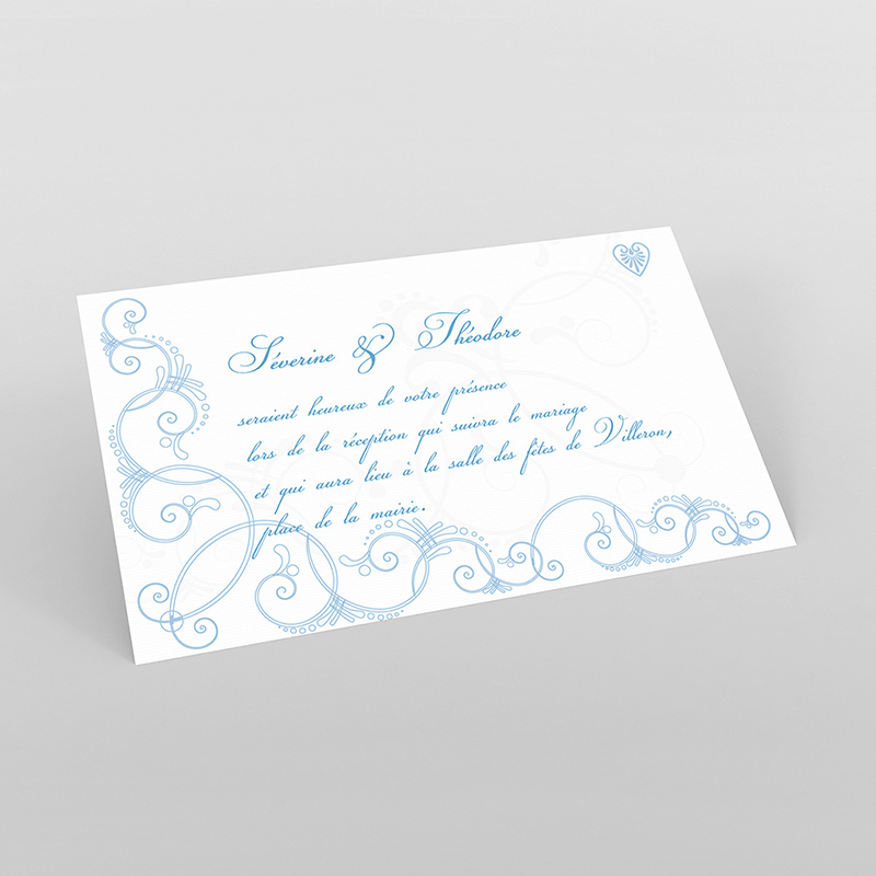 Carte d'invitation mariage Céleste