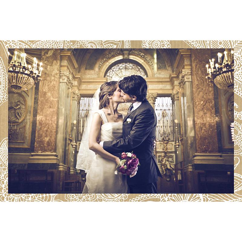 Carte de remerciement mariage Romantique  gratuit