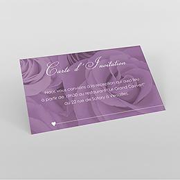 Carte d'invitation mariage Délicatesse