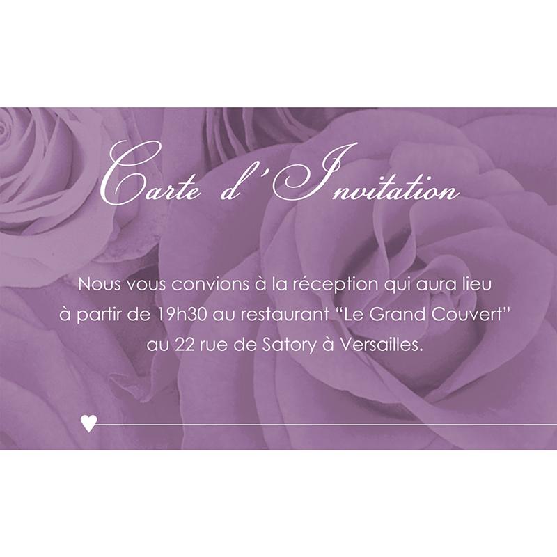 Carte d'invitation mariage Délicatesse  pas cher