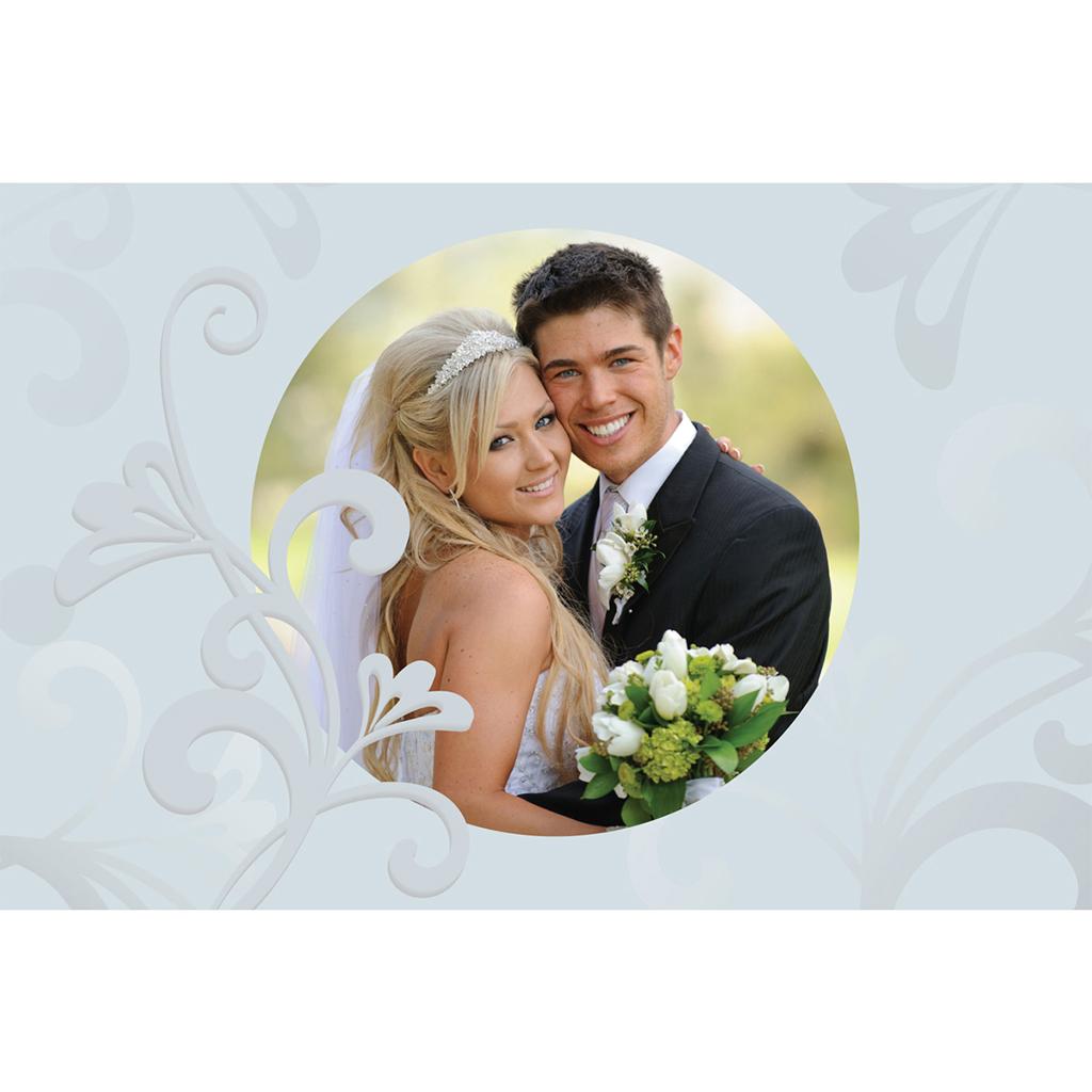 Carte de remerciement mariage Volutes  gratuit