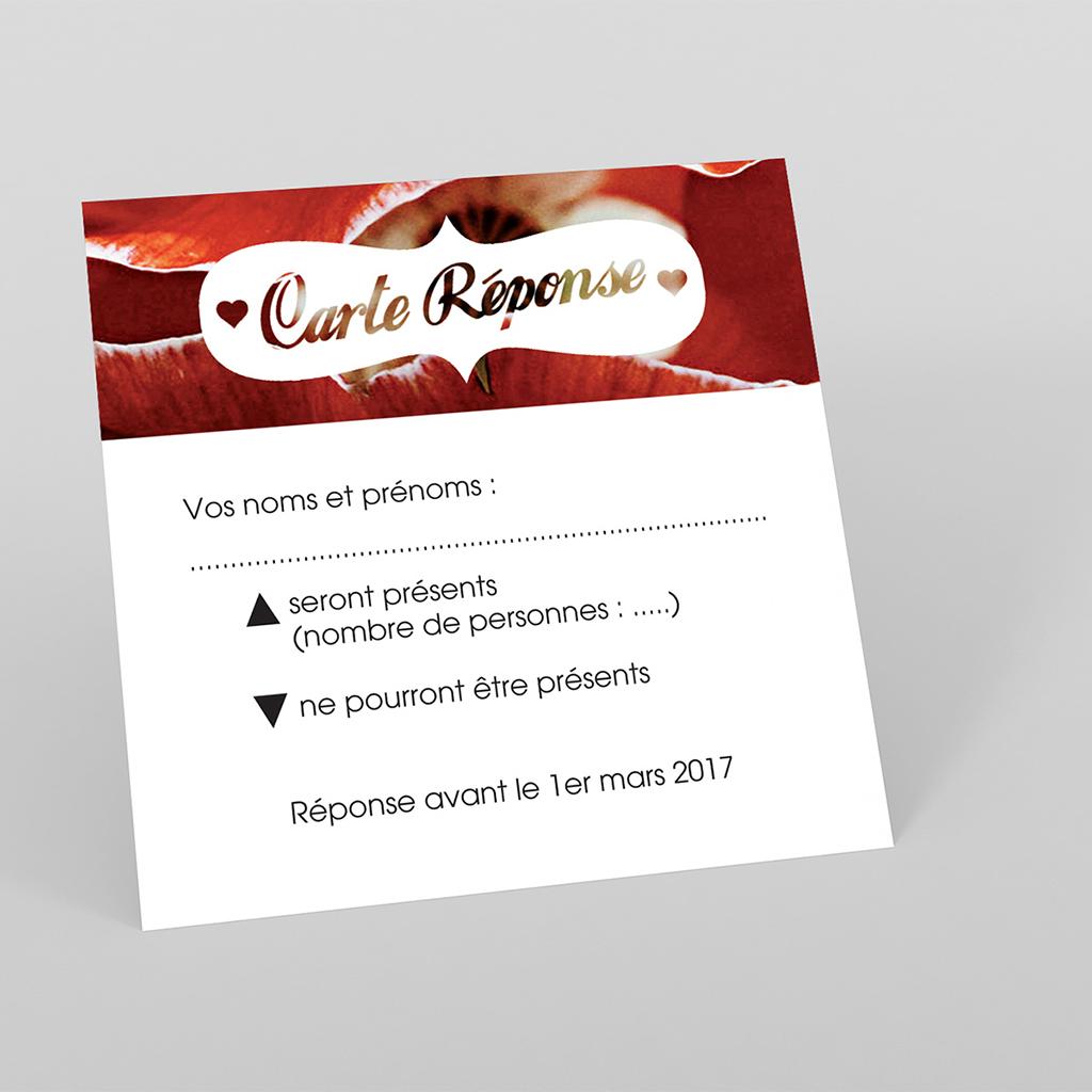 Carton réponse mariage A notre image carré