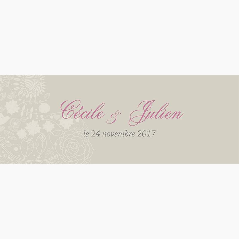 Marque-place mariage Mariage ivoire coeur pas cher