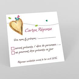 Carton réponse mariage Bucolique