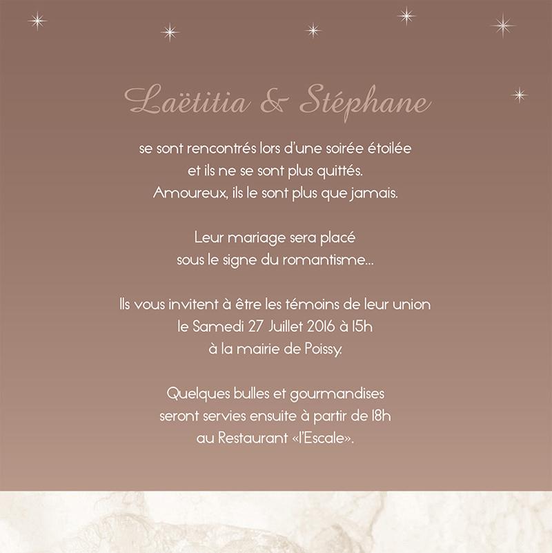 Faire-part de mariage Paris sépia