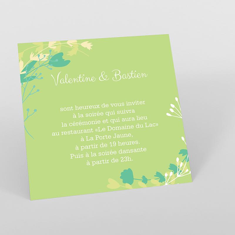 Carte d'invitation mariage Tourbillon de printemps