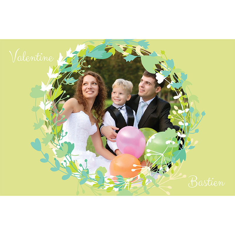 Carte de remerciement mariage Tourbillon de printemps pas cher