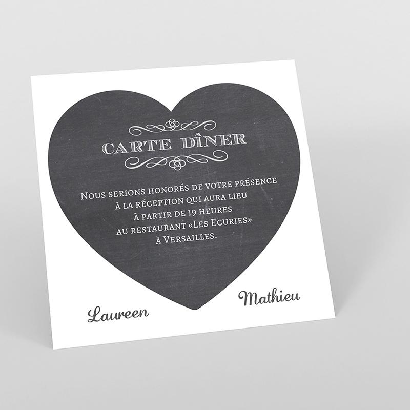 Carte d'invitation mariage Wedding cake ardoise