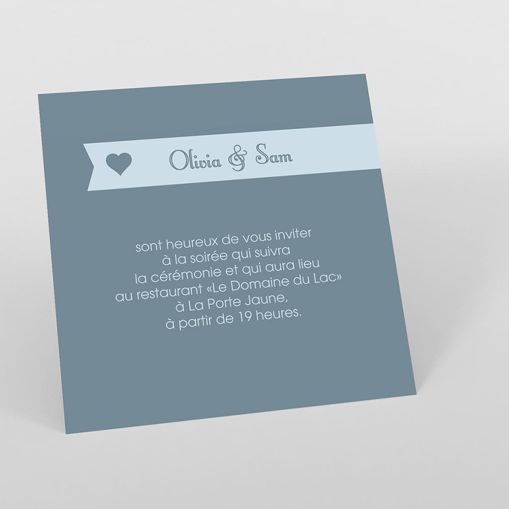 Carte d'invitation mariage Mille fois oui gris