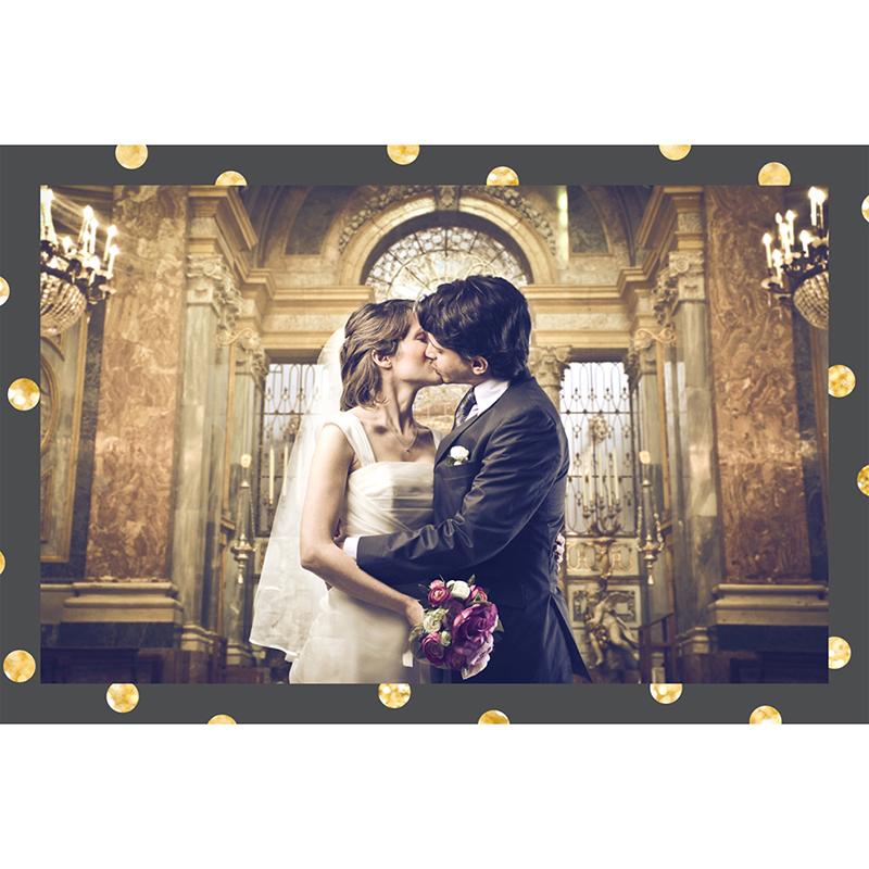 Carte de remerciement mariage Un jour d'amour noir or pas cher