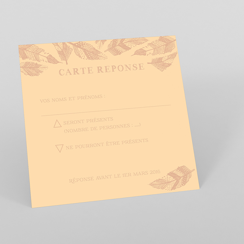Carton réponse mariage Vent d'automne