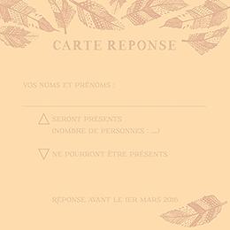Carton réponse mariage Vent d'automne  pas cher