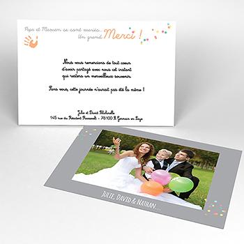 Carte de remerciement mariage Oui-oui