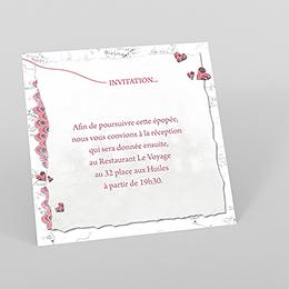 Carte d'invitation mariage Voyage d'amour