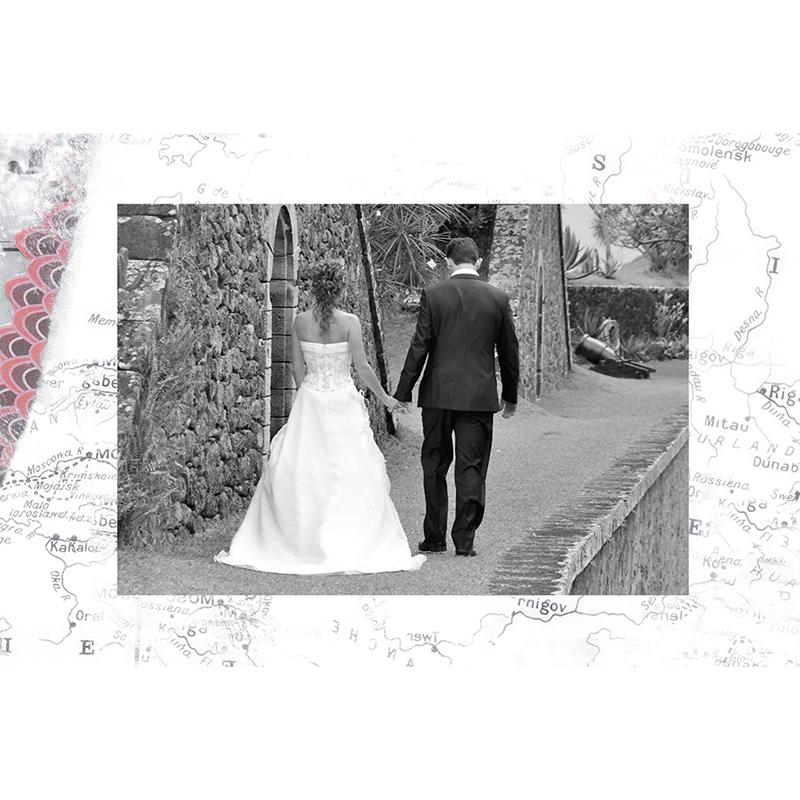 Carte de remerciement mariage Voyage d'amour  gratuit