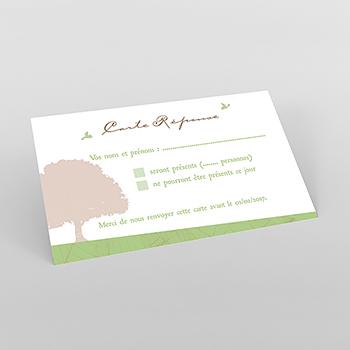 Carton réponse mariage Nature