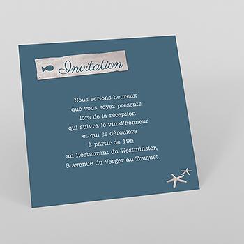 Carte d'invitation mariage Paul et Virginie