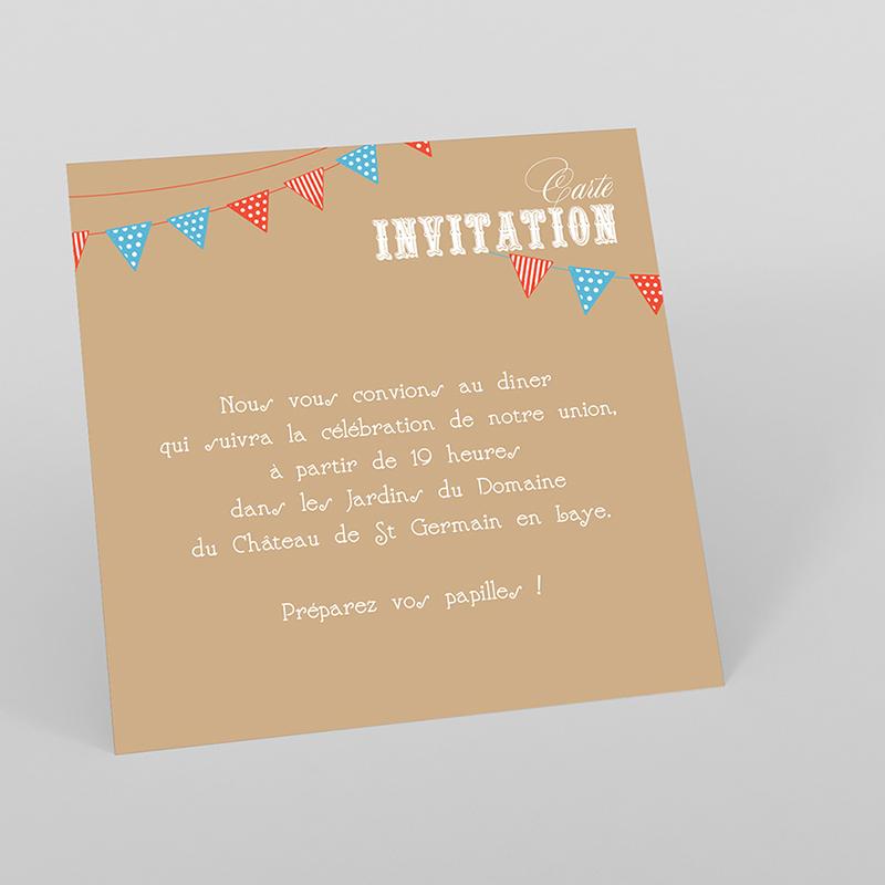 Carte d'invitation mariage Christian et Satine