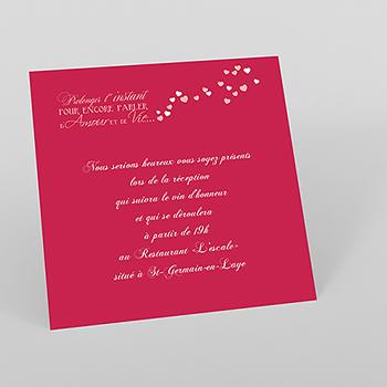 Carte d'invitation mariage Romeo et Juliette