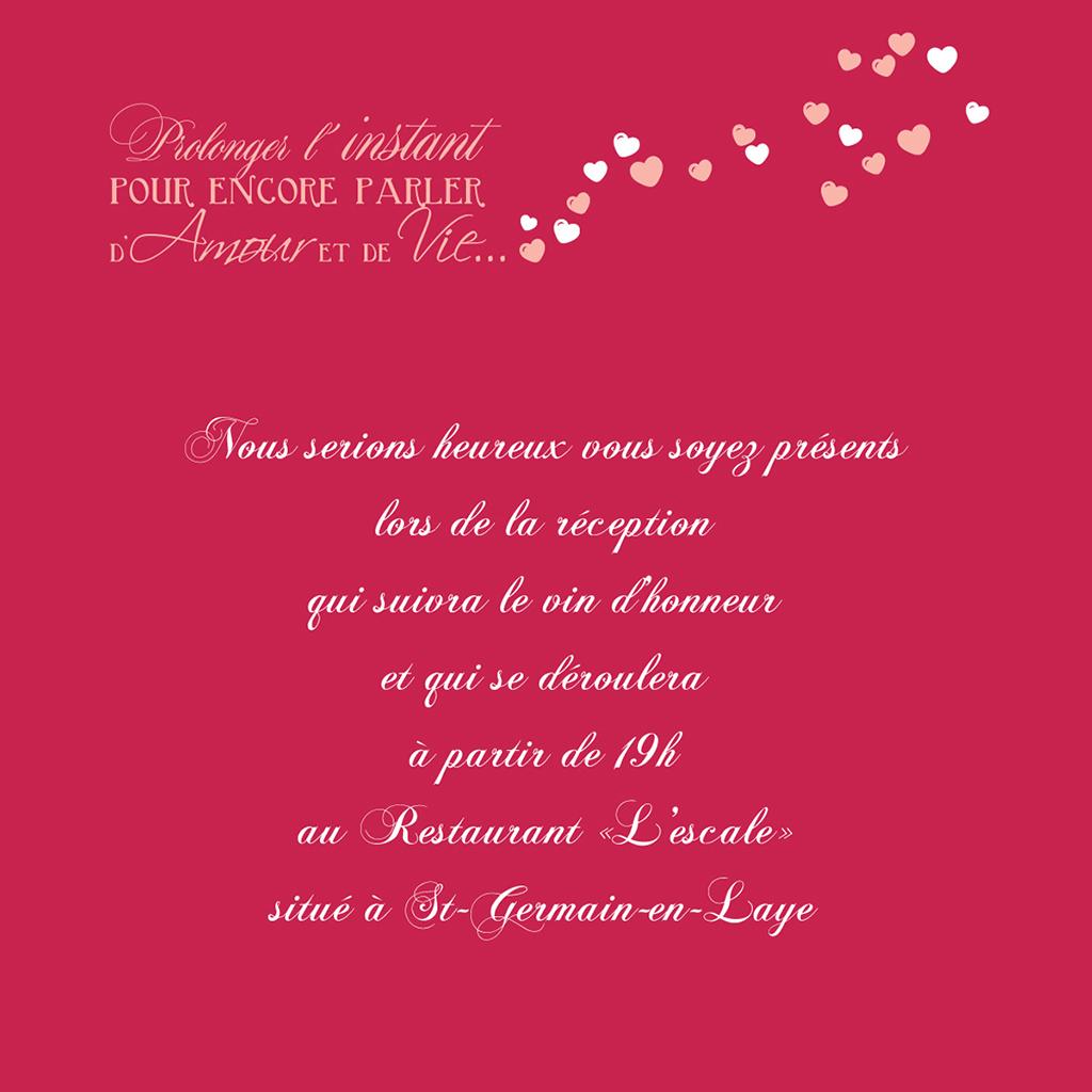 Carte d'invitation mariage Romeo et Juliette  pas cher