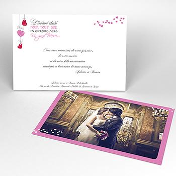 Carte de remerciement mariage Romeo et Juliette