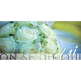 Faire-part de mariage Florilège vert pas cher