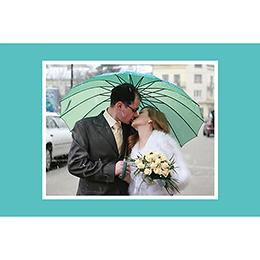 Carte de remerciement mariage Union bleu gratuit