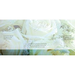 Faire-part de mariage Florilège vert gratuit