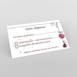 Carton réponse mariage Les Coeurs