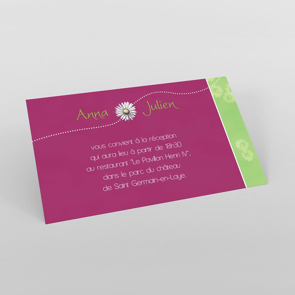 Carte d'invitation mariage A la folie