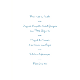 Menu mariage Idylle blanc